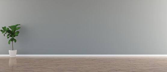 Obraz Illustration 3D rendering large luxury modern bright interiors Living room mockup computer digitally generated image - fototapety do salonu