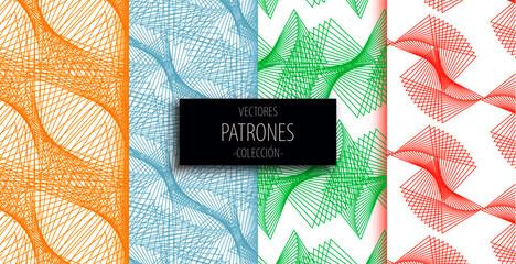 Obraz Colección de patrones abstractos - fototapety do salonu