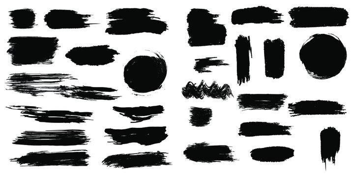 Brush strokes vector isolated on white background. easily editable eps.
