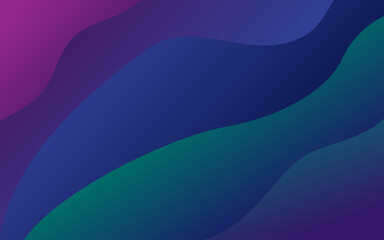 Obraz Abstract wavy gradient green and purple background - fototapety do salonu