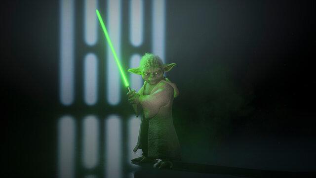3D Master Yoda render, 28 Jun, Sao Paulo, Brazil
