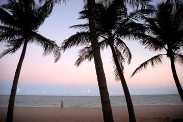 sunset on the beach Brazil