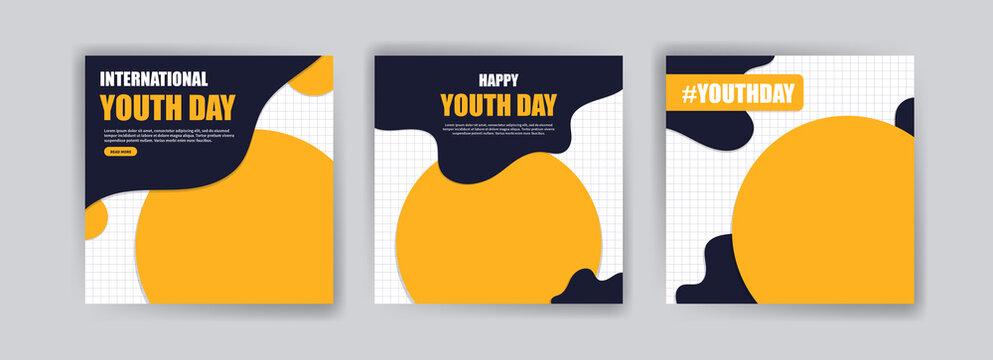 International Youth Day. vector social media for international youth day. Campaign on the importance of youth to the world.
