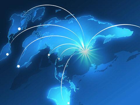 ビジネスイメージ 世界貿易 世界経済 経済成長 世界地図 日本地図 グローバル経済