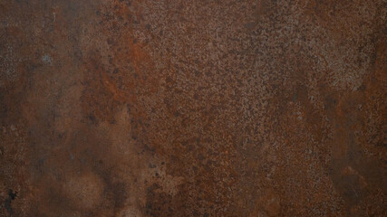 Grunge rusty orange brown metal corten steel stone background texture banner panorama