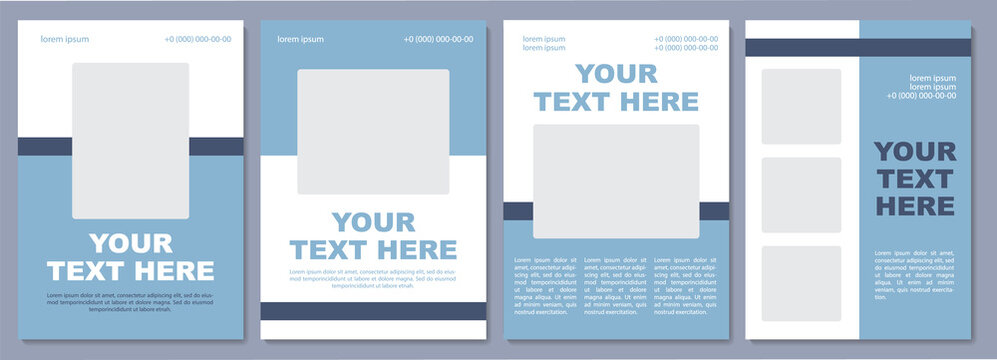 Adventurous destination promotion brochure template. Flyer, booklet, leaflet print, cover design with copy space. Your text here. Vector layouts for magazines, annual reports, advertising posters
