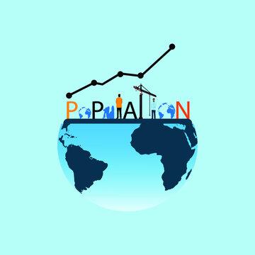 world population day web banner design. illustration vector
