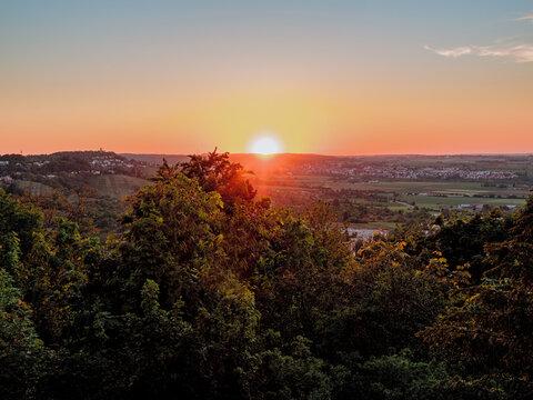 Sonnenuntergang über Gerlingen, Ludwigsburg, Baden-Württemberg