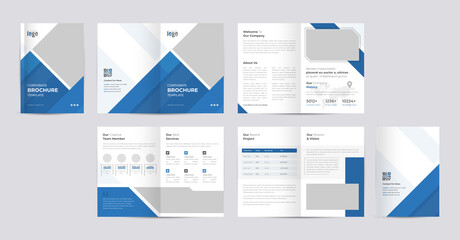 Obraz Corporate Brochure template layout design with modern cover page for annual report and company profile, presentations, leaflet, booklet and catalog design .and a4 size editable vector design. - fototapety do salonu