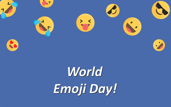 world emoji day, simple vector illustration, suitable for backgrounds, banners and posters, easy to edit, eps 10