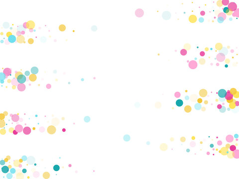 Bokeh confetti circles decoration holiday background.