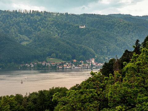 Blick auf Bodmann am Bodensee, Baden-Württemberg