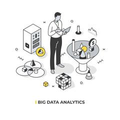 Fototapeta Big Data Analytics Isometric Concept obraz