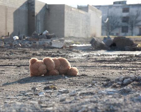 Missing Teddy Bear in Urabn City