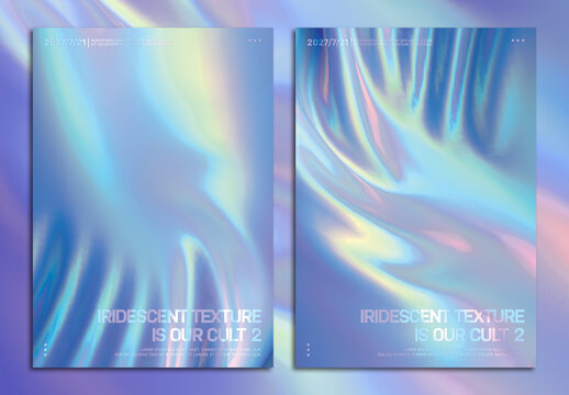 Modern Holographic Foil Posters Layout