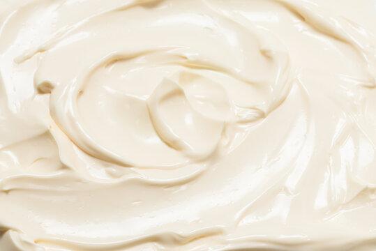White whipped cream texture.