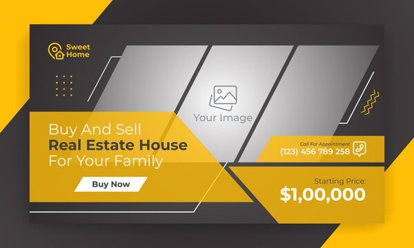 Best real estate video thumbnail. Property buy and sell thumbnail