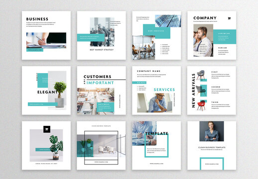 12 Modern Business Social Layouts