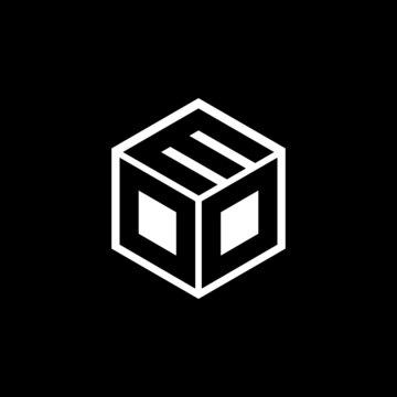 DDM letter logo design with black background in illustrator, vector logo modern alphabet font overlap style. calligraphy designs for logo, Poster, Invitation, etc.