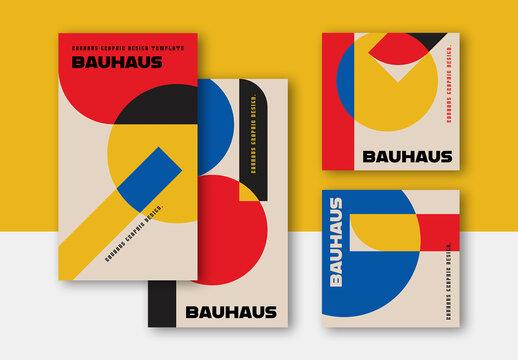 Bauhaus Style Social Media Posts