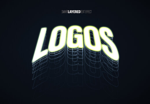 Layered Glowing Text Effect