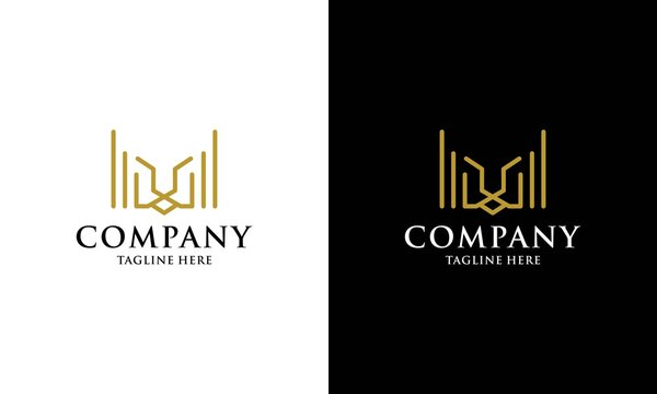 Veactor of Lion Head Logo Design with Line Art Style