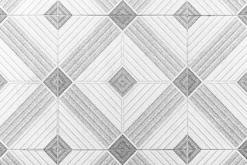 Vintage antique ceramic tile pattern texture and seamless background