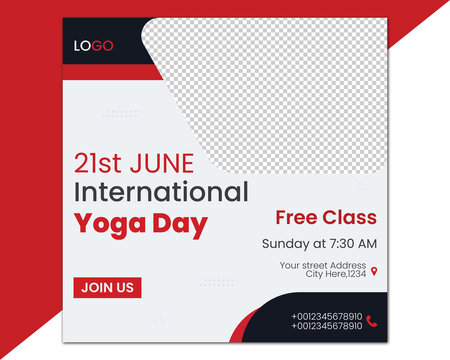 International Yoga Day Social Media Post Templates