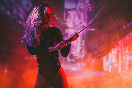 samurai girl with sword