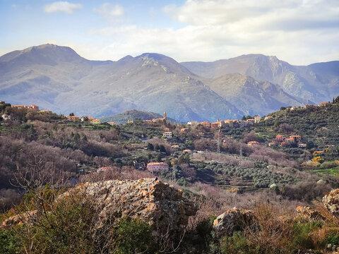Italian landscape of the Ligurian hinterland