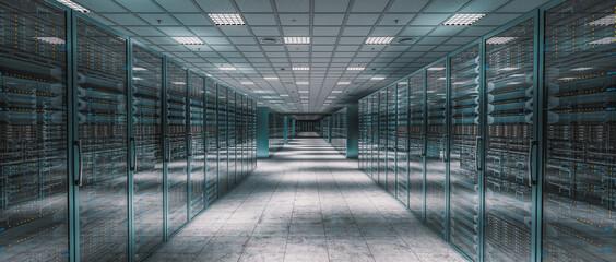 Obraz internal image of a server room. - fototapety do salonu