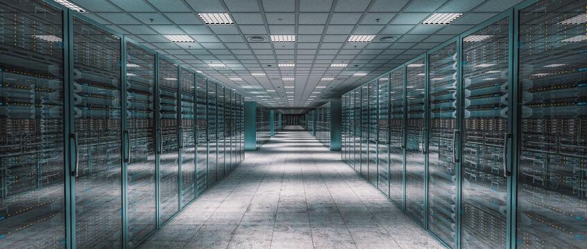 internal image of a server room.