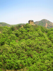 Chinese muur; Great Wall, Hebei province, China
