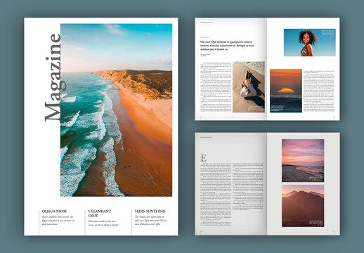 Minimalist Magazine Layout