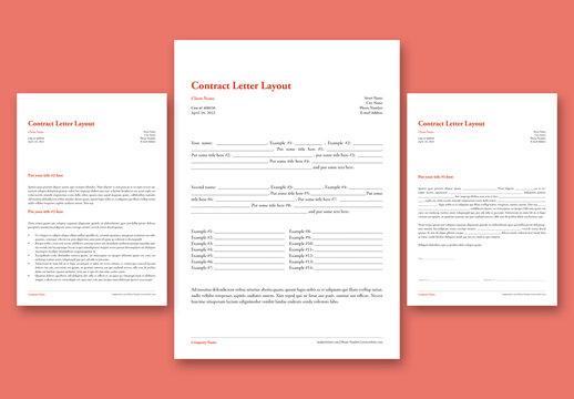 Contract Letter Layout