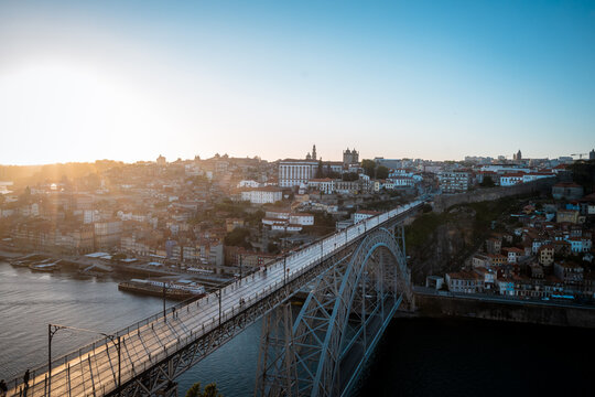 View of City of Porto from Ponte Luis I Portugal