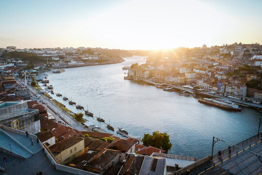 Porto Sunset Portugal from Bridge Ponte Luis I
