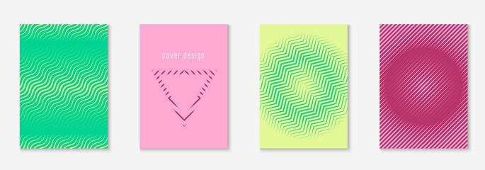 Obraz Modern catalog with minimalist geometric line and trendy shapes. - fototapety do salonu