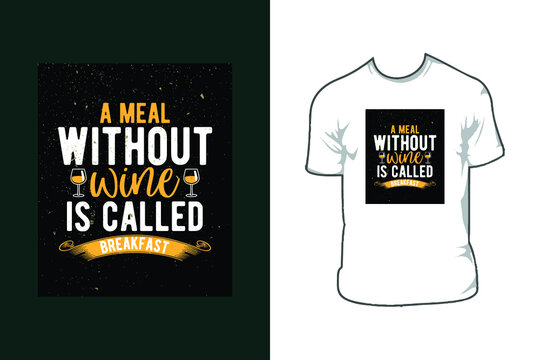 wine t shirt design