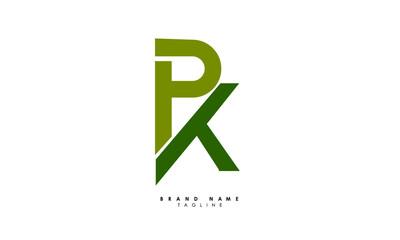 Obraz Alphabet letters Initials Monogram logo PK, KP, P and K - fototapety do salonu