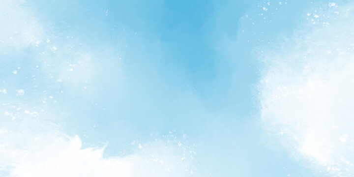 Blue Painted Sky Background