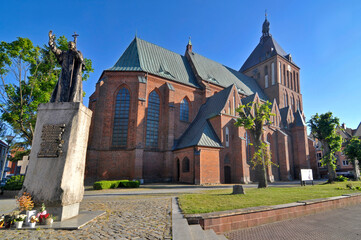 Fototapeta Gotycka katedra w Koszalinie obraz