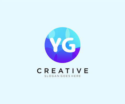 YG initial logo With Colorful Circle template vector.