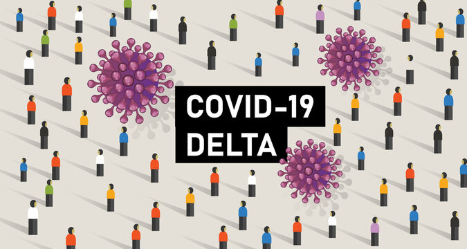 covid-19 new variant delta corona virus epidemic mutation world wide map