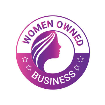 Women Owned Logo. Women Owned vector logo design. Women Owned business logo, Women owned badge, Women owned business icon