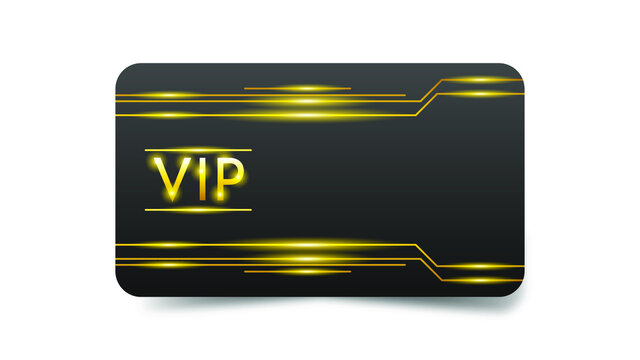 Abstract Dark Gold Vip Card Template Vector Design Style Premium Luxury Template
