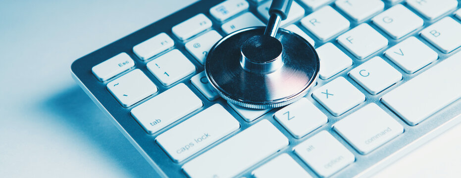 The concept of the advancement of modern medical technologies and software.