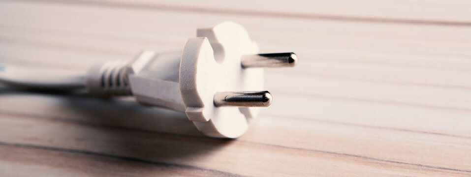 lectric plug with wire. Eco green power concept.