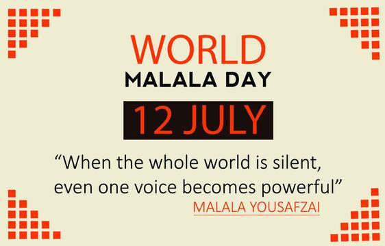 International malala day 12 july vactor template