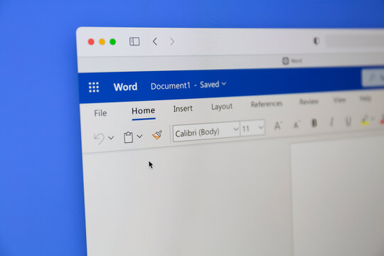 Ostersund, Sweden - July 1, 2021 Microsoft Word closeup. Microsoft Word is a word processor developed by Microsoft.